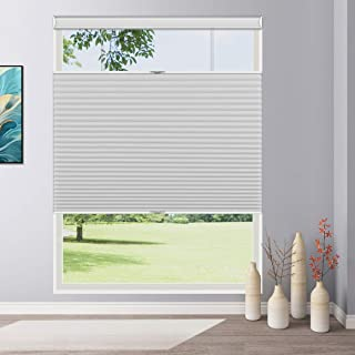 Keego Cordless Cellular Shades Top Down Bottom up Blackout, Custom Cut to Size Room Darkening Honeycomb Blinds for Home Of...