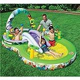 Intex 57451NP - Tappeto da gioco gonfiabile con palline ed anelli - Winnie the Pooh, 297 x 193 x 135 cm