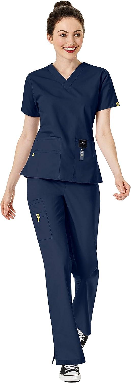 WonderWink 毎日続々入荷 Origins Women's お得セット Scrub Set 6016 Bravo Bundle- T V-Neck