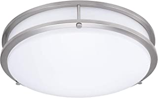 LB72122 LED Flush Mount Ceiling Light, 16-Inch, Antique Brushed Nickel, 23W (180W..