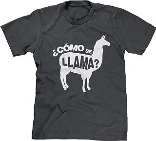 Mens T-Shirt Como Se Llama - Pun Funny Humor Joke