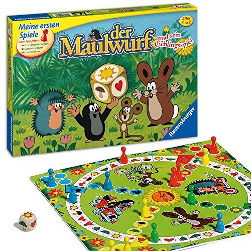 Ravensburger 21570 - Der Maulwurf und sein Lieblingsspiel - Spiel für Erwachsene und Kinder ab 3 Jahren, für 2-4 Spieler