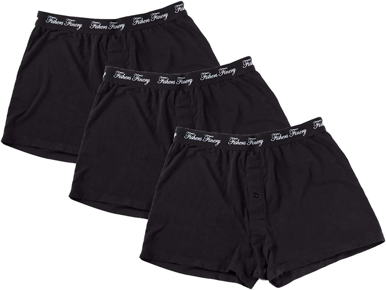 Fishers Finery Mens Relaxed Stretch Mi Knit Japan's largest assortment Modal Boxers; Cotton Omaha Mall