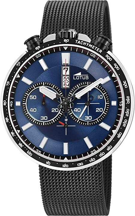 Lotus orologio cronografo quarzo uomo con cinturino in acciaio inox 10139/3