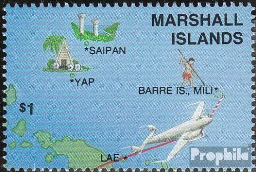 Marshall-îles 124 (complète.Edition.) 1987 vol à Le Monde (Timbres pour Les collectionneurs) Aviation