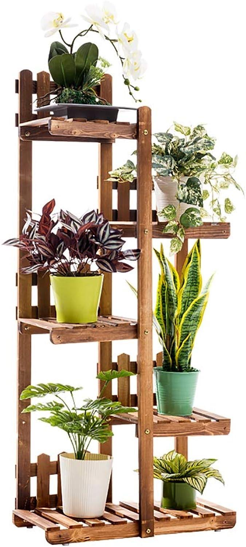 Solid Wood Flower Stand Multi-Layer Landing Balcony Living Room Indoor