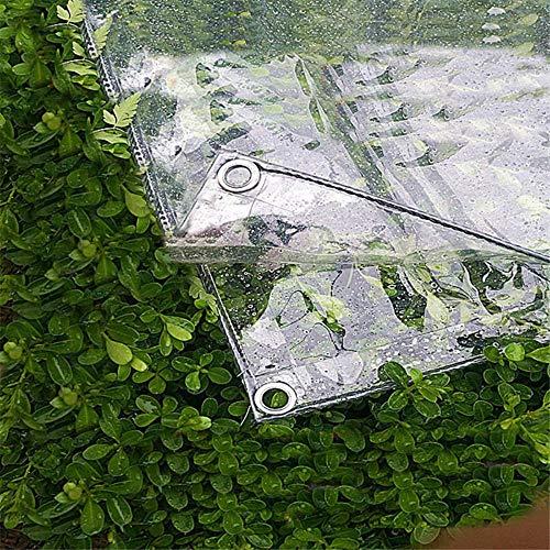 Viner Transparant tuin schaduwdoek zeildoek verdikking transparant canvas tuinschommel balkon raam planten afdekdoek, 1.4Mx2M