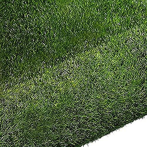 Quesuc Tappeti in Erba Sintetica Balconi e Terrazze da Esterno Finta Erba Tappeto Tappeto di Erba | Prato Sintetico Permeabile all acqua con Protezione UV | Altezza 10 mm (100x100 cm)