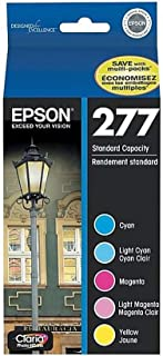 Epson Claria 277 Multi-pack Ink Cartridge - Inkjet - 360 Page Cyan, 360 Page Light Cyan, 360 Page Magenta, 360 Page Light Magenta, 360 Page Yellow - 5 / Pack - OEM T277920