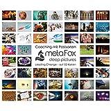 metaFox - LEADING CHANGE - Karten-Set der besonderen Art, mit 52 Karten - Kartenset Konversation Change Management Coaching Tool Motivationskarten Gefühlskarten