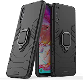 OOPKINS Case for Samsung A70 Shockproof Rotating Metal Ring Holder Kickstand Magnetic Car Mount Heavy Duty Armor Slim Fit ...