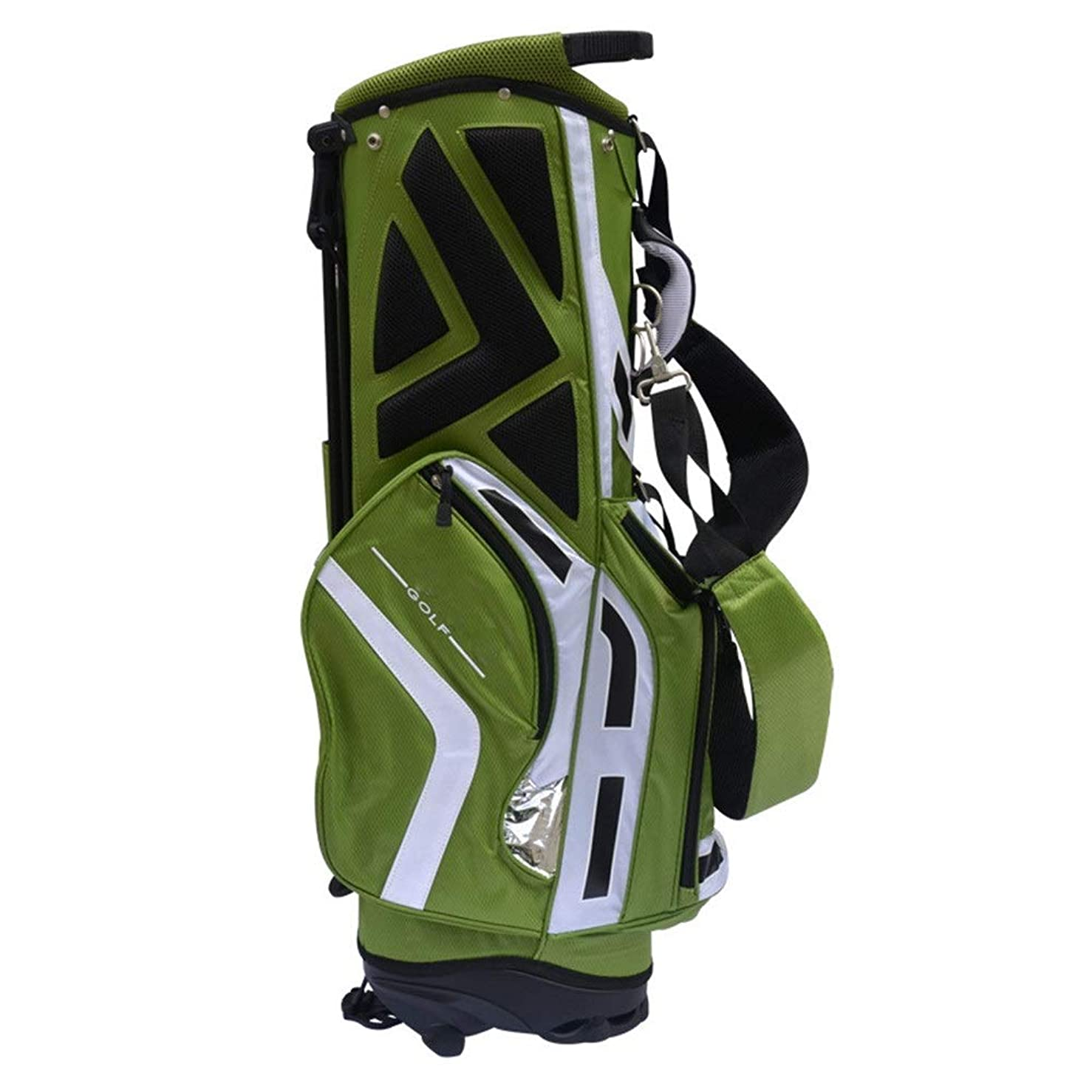 レポートを書く迅速スノーケルゴルフバッグ ゴルフバッグバッグ軽量ゴルフバケットバッグのために男性と女性は11パターグリーンを保持することができますスタンド (Color : Green, Size : As shown)