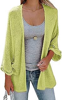 Haloumoning Womens Open Front Cardigan Capes Oversized Sweaters Long Sleeve Knit Drape Coats
