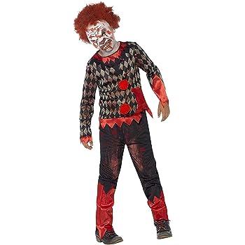 Smiffys-44293L Disfraz de payaso zombi deluxe, con careta de látex ...