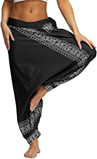 SPE969 Boho Pants for Men&Women Casual Loose Yoga Trousers Baggy Aladdin Jumpsuit Pants