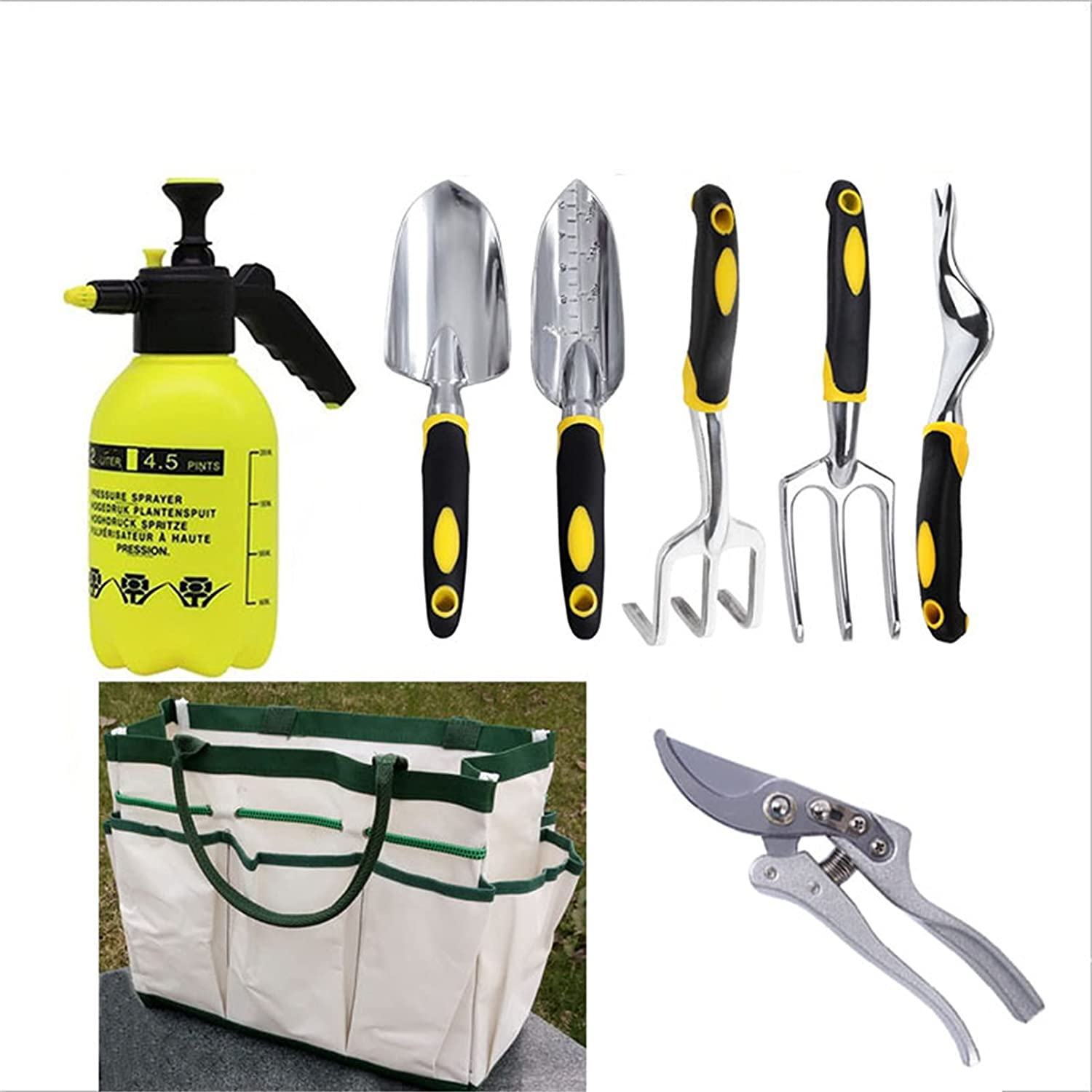 ZHUAN Garden Tools Same day shipping Set 7 Pieces Gardening NEW before selling ☆ Heavy Duty Kit Cast Al