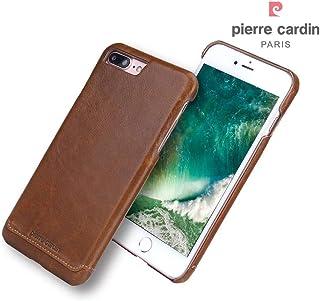 Pierre Cardin echt lederen hardcase hoes Geschikt voor iPhone 7 Plus / 8 Plus bruin