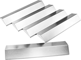 Hisencn Grill Heat Plate for Brinkmann 810-2410-S, Brinkman 810-3660-S Replacement Parts, Heat Tent Shield Deflector for Uniflame, Aussie, 5-Pack 15 3/8 inch Stainless Steel Flame Tamer Burner Cover