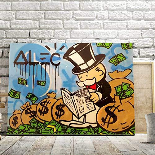 Puzzle 1000 piezas Cartón de dibujos animados pop art mucho dinero puzzle 1000 piezas animales Rompecabezas de juguete de descompresión intelectual educativo divertido juego f50x75cm(20x30inch)