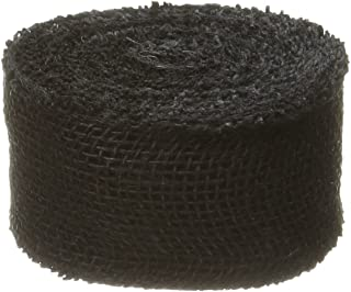 DARICE 2914-051 240gm Burlap Ribbon, 2.5-Inch 10-Yard, Black