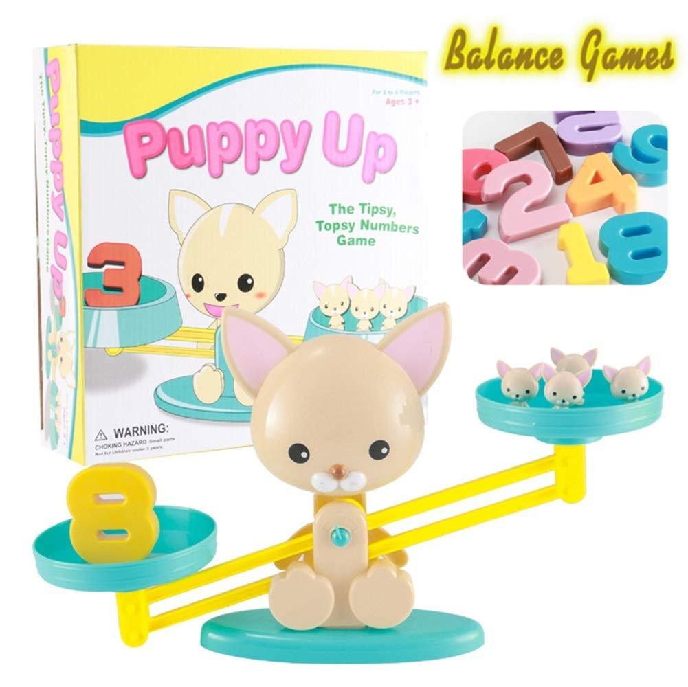 Mono/Piggy/Puppy Cool Math Game,Juegos De Mesa De Equilibrio Monkey Balance Escala Digital Educativa De Educación Temprana Juguete Para Contar Matemáticas Juguetes De Los Niños (Color : C): Amazon.es: Oficina y papelería