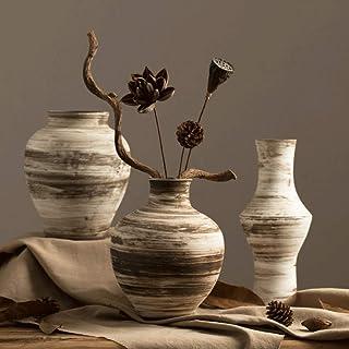 Decoracion Jarrones Jarrón de tres piezas Set + de la vendimia de cerámica secas Ramas de flores decorativo Mesa de comedo...