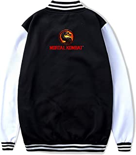 Mortal Kombat Unisex Youth Baseball Jacket Uniform Sport Sweatshirt Sweater Coat