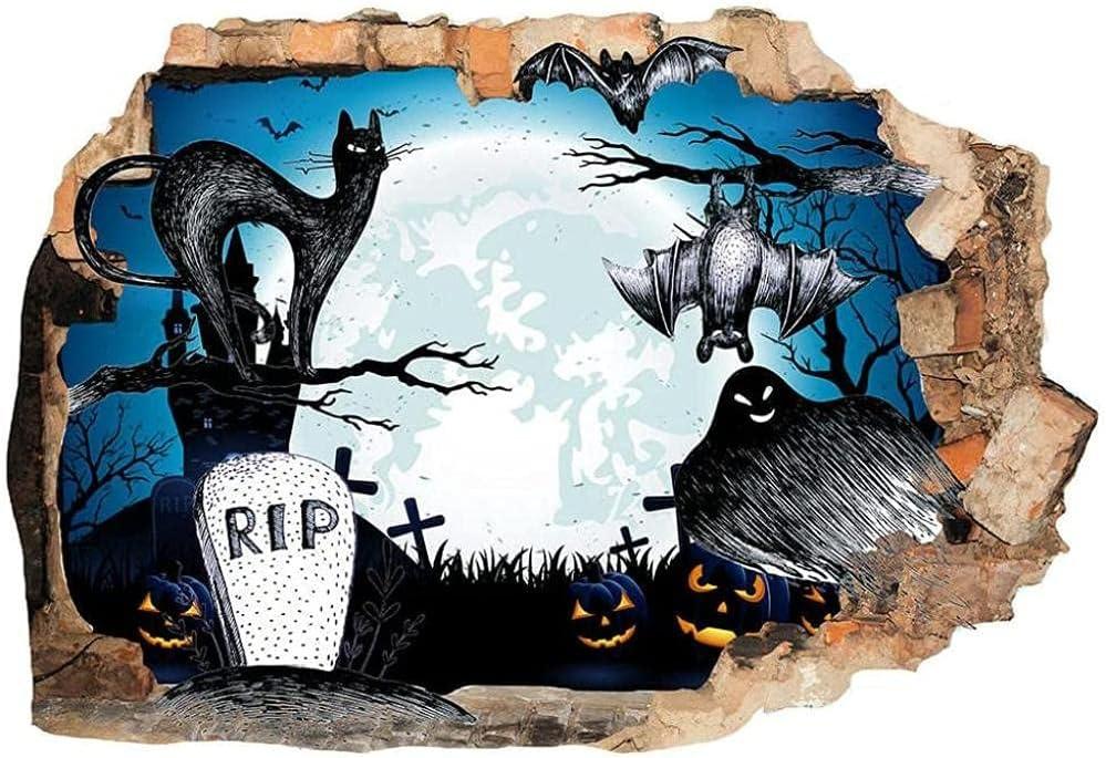 Halloween Ghost bat catNew 3D Sticker Removable Wall Milwaukee Mall Austin Mall Vin