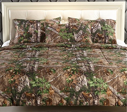 Realtree Xtra Green Micro Peach Super Soft Printed Comforter (Full/Queen)