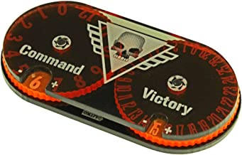 LITKO Command and Victory Point Tracker Compatible with WH: KT, Fluorescent Orange & Translucent Grey