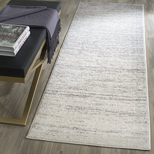 Safavieh Adirondack Collection ADR113B Modern Ombre Runner, 2' 6' x 8', Ivory/Silver