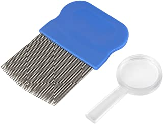 Ezy Dose Kids Lice Comb with Magnifier | Effective for Head Lice, Eggs and Nit Removal | Works with Any Lice Treatment | Best for Any Type of Hair | Safe for Baby, Kids and Adults