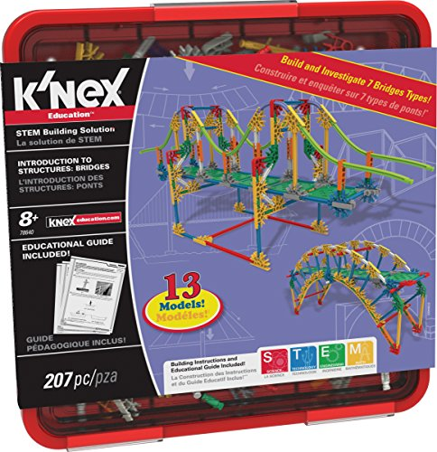 K'NEX Education – Intro to Structures: Bridges Set – 207 Pieces – For...