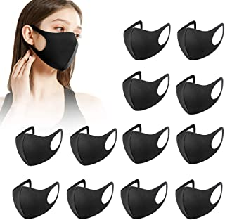 12 pezzi copri bocca riutilizzabili lavabili Leggero nero