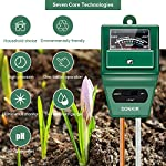 Sonkir Soil pH Meter, MS02 3-in-1 Soil Moisture/Light/pH Tester Gardening Tool Kits for Plant Care, Great for Garden… 14 Kindly NOTE: This soil tester can not be applied to test pH value of any other liquid. If the soil is too dry the indicator will not move, and water it before testing. 3-IN-1 FUNCTION: Test soil moisture, pH value and sunlight level of plant with our soil meter, helps you specialize in grasping when you need to water your plant. ACCURATE & RELIABLE: Double-needle Detection Technology strongly enhances the speed and accuracy of detecting and analyzing soil moisture and pH acidity.