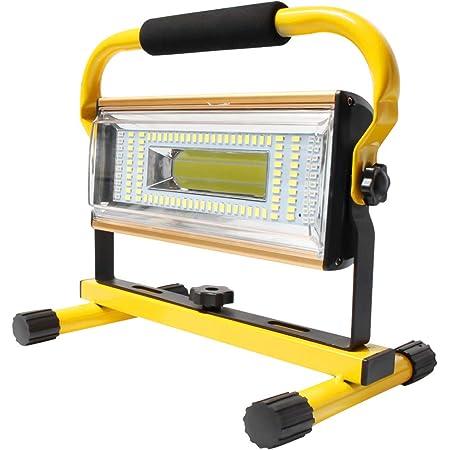 /Éclairage ext/érieur pour le camping Port de sortie USB Projecteur de chantier LED 80 W 3000 lm Blanc froid Lampe de chantier Lampe de chantier portable Orientable le garage le travail