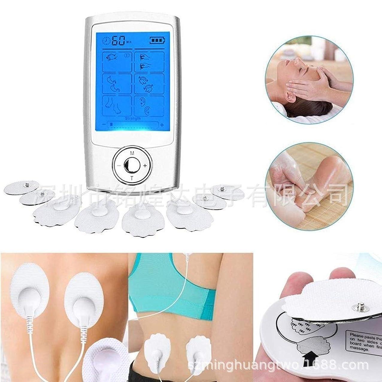 まさにトリプル警戒16モード筋肉刺激装置充電式デジタルセラピー全身鍼治療マッサージ筋肉痛緩和治療4パッド付き10機