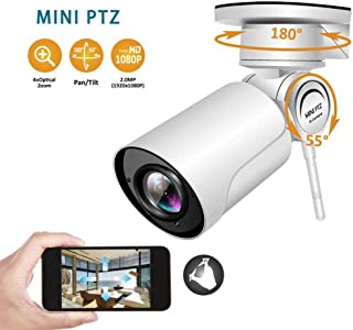 4X Zoom with Sound HD Webcam 1080P Outdoor IP66 Waterproof WiFi Remote Surveillance Camera with 30M Vision Support Alarm Function,4xzoom