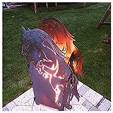 HorseFire Feuersäule Feuerstelle Feuerkorb in Pferdeoptik
