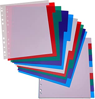 Document and Letters Organizer Arts and Crafts Kicko 3-Ring Binder Dividers Pack of 6 Pocket Dividers with 5 Insertable Color Tabs School and Office Supply