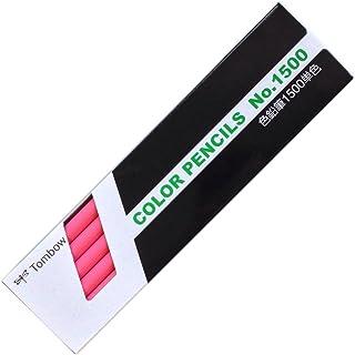 トンボ鉛筆 色鉛筆 1500単色 桃色 1ダース 1500-22