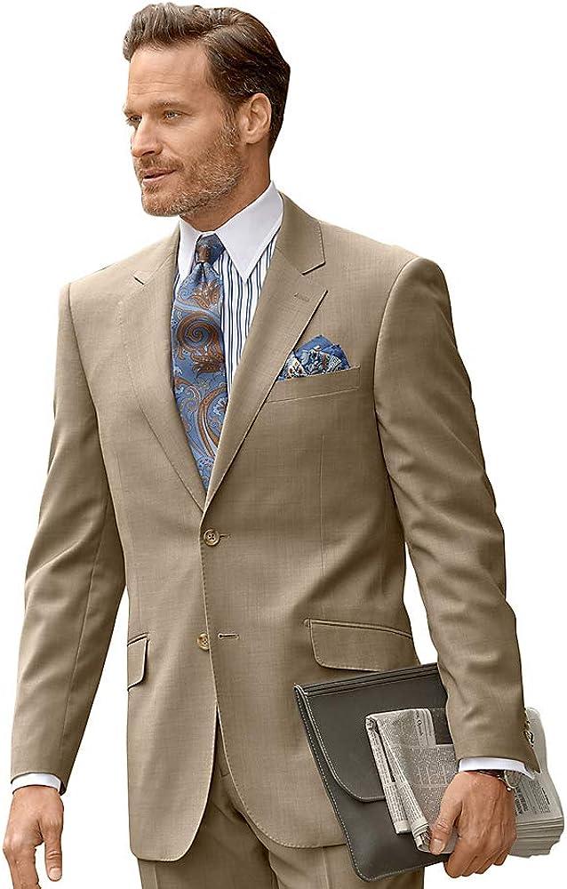 Paul Fredrick Men's Classic Fit Sharkskin Notch Lapel Suit Jacket