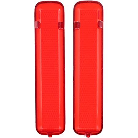 AUTOKAY 15183155 15183156 Pack of 2 Rear Left Driver and Right Passenger Side Door Red Reflector Panel