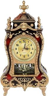 Pendulettes de Bureau, Horloge de Bureau Vintage Rétro Salon Décoratif Vintage Style Table En Horloge Antique Home Hôtel D...