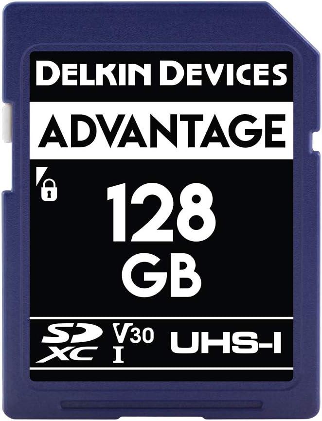 Delkin Devices 128GB Advantage SDXC UHS-I (V30) Memory Card (DDSDW633128G)