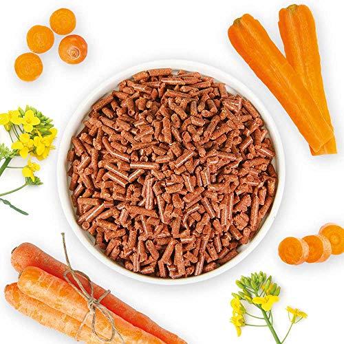 Schecker Trocken Karotten Inhalt: 750g Granulat 1kg = 14kg frische Möhren - Ideal auch für Kaninchen und Hasen