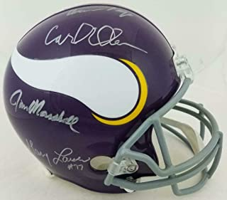 Signed Purple People Eaters Helmet - Eller Marshall Larsen Page FS BAS Wit - Beckett Authentication - Autographed NFL Helmets