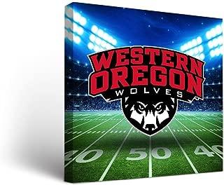 Victory Tailgate Western Oregon University WOU Wolves Canvas Wall Art Stadium Design