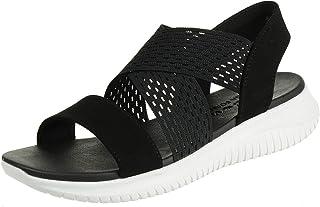 Skechers Women's Ultra Flex-Neon Star Fashion Sandals