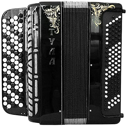Brand New Tula 209 Tulskiy Bayan Chromatic Button Accordion B System made in Russia High Class Musical Instrument BN 49 3 Perfect Sound! incl. Leather Straps, Case.